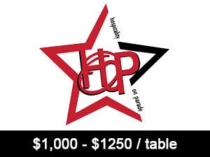 1000 - 1250 per table
